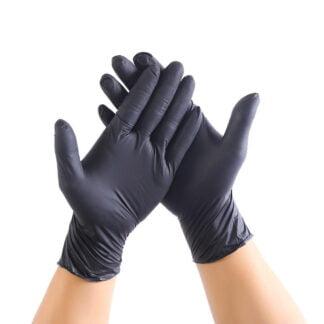 black latex gloves powder free small large
