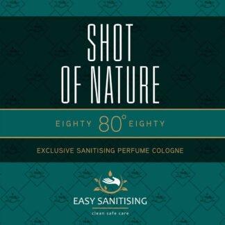 shot of nature sanitising cologne